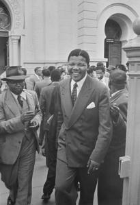 Nelson Mandela durante el juicio acusado de traición por Jürgen Schadeberg- Pretoria 1958