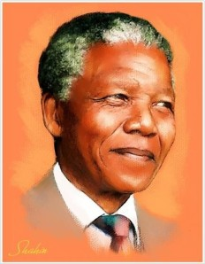 Nelson Mandela por el artista iraní Shahin