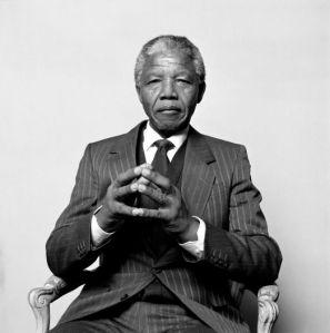 Mandela fotografíado en Suecia por Hans Gedda en 1990