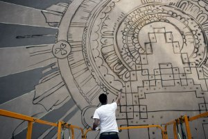 Technologia Omnipotens Regnat-Calle Santiago. Zaragoza 2010