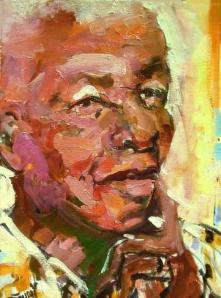 Mandela por la pintora Bruni Sablan, 2009