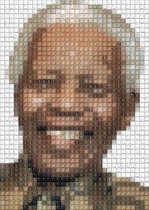 Nelson Mandela por el artista Workbynight 2011-2013