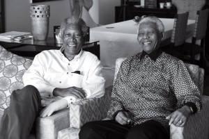 Morgan Freeman y Nelson Mandela por el fotógrafo Keith Bernstein