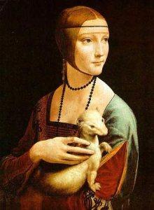 """Dama con Armiño"". Leonardo Da Vinci, 1483-1484"