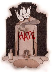 """Ilustración para el cuento """"Him"""" de Quentin Way 2013"""