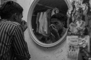 Fotografía de Manu Valcarce. Serie The transit workers of Singapore