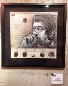 """You are under arrest""-Retrato de Serge Gainsbourg"