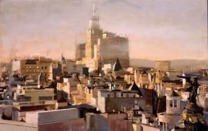 """""""Telefónica Madrid"""", 2012 por el pintor Miguel Vivo."""