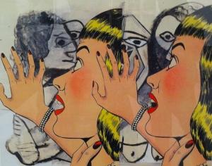 Obra de Dino Bruzzone para la galería Pabellón 4 de Buenos Aires