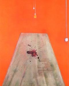 """""""Sangre en el suelo"""" de Francis Bacon, 1986"""