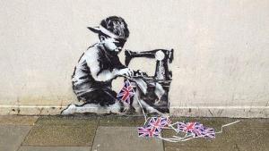Obra del genio del street art Banksy