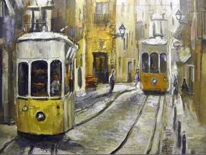 Lisboa. Por el pintor Ernest Descals