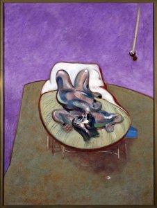 """Lying Figure"" por Francis Bacon,1966"