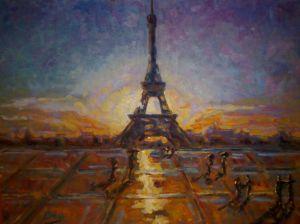 """""""Atardecer en París"""" de Nicolas Morales Bru - 2010"""