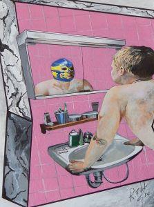 Mini cuadro con el que Rubén Fernández Castón ha participado en la Exposición Colectiva La Sala de Blas.