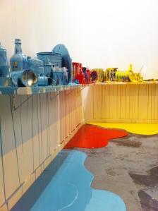 """Jorge Magyaroff. """"Work in progress"""". (2015). Esmalte sobre tela, PVC espumado, laca y resinas."""
