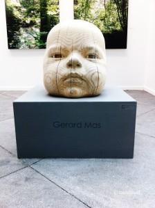 "Gerard Mas ""Nano"", 2014 Madera Policromada y Vidrio. Pieza única."