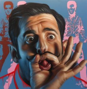 """BELÍN. """"Yo soy Belín"""", 2015. Pintura en spray. Galería Fernando Latorre (Madrid)."""