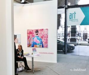 """La protagonista absoluta de la Galería Balaguer fue  la artista Alejandra Atarés. Una fuerte apuesta cuya majestuosa obra titulada """"Japonesa"""" fue la que acompañó al cartel de la 10ª edición de Art Madrid."""
