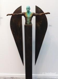 "Jesús Curià ""Millenium III"". Bronce y hierro."