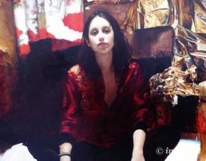 """Jordi Díaz Alamà """"Reinas de la Noche. MARÍA. Óleo sobre lienzo."""