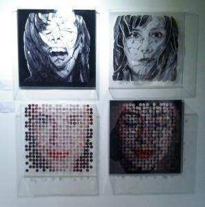 """Diana Beltrán. """"Líneas Suspendidas"""" y """"Puntos Suspendidos"""" (2015). Fotográfico sobre caja acrílica."""