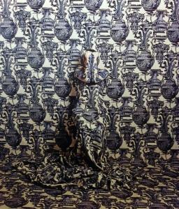 "Cecilia Paredes. ""Corinthians Blue"" (2014). Impresión sobre papel fotográfico."