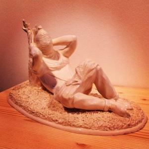 Obras de Nauzet Mayor, joven artista canario residente en Palma de Mallorca para la Galería Fran Reus.