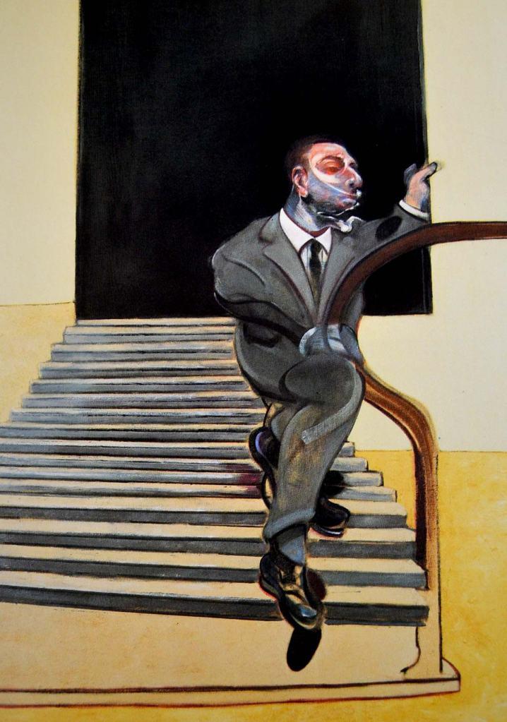 """Francis Bacon """"Retrato de un hombre bajando una escalera"""" 1972."""