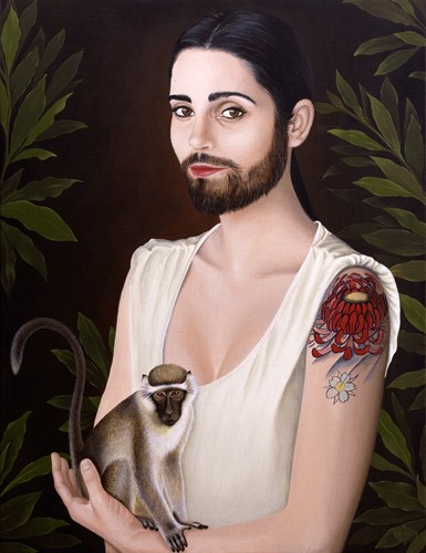 "Rubenimichi ""Mujer Barbuda"" Acrílico sobre lienzo, 2011"