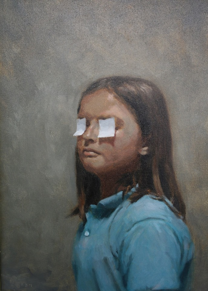 Rafel Bestard01 - Niña con Ojos Cubiertos -Oleo sobre tela