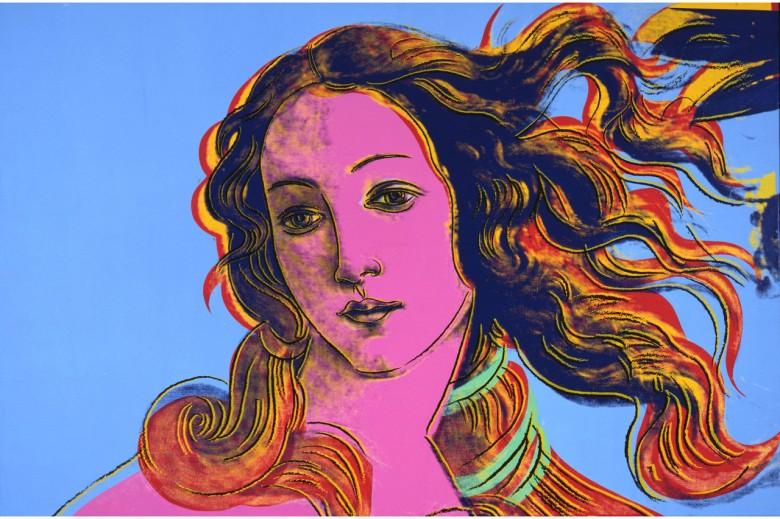 """Andy Warhol """"Detalles de Pinturas Renacentistas"""""""", 1984 (inspirado en la famosa obra de Botticelli """"El nacimiento de Venus""""). La obra pertenece a THE ANDY WARHOL FOUNDATION FOR THE VISUAL ARTS, INC./ARS, NY."""