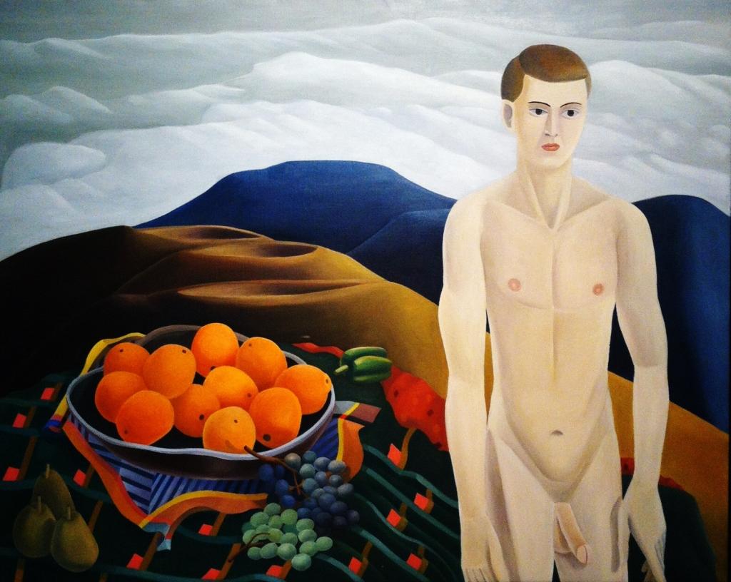 """""""Día gris"""", 1988. Óleo sobre tela."""