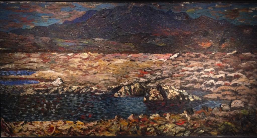 """Mt. Botnssúlur visto desde Thingvellir, 1940. Óleo sobre tela."
