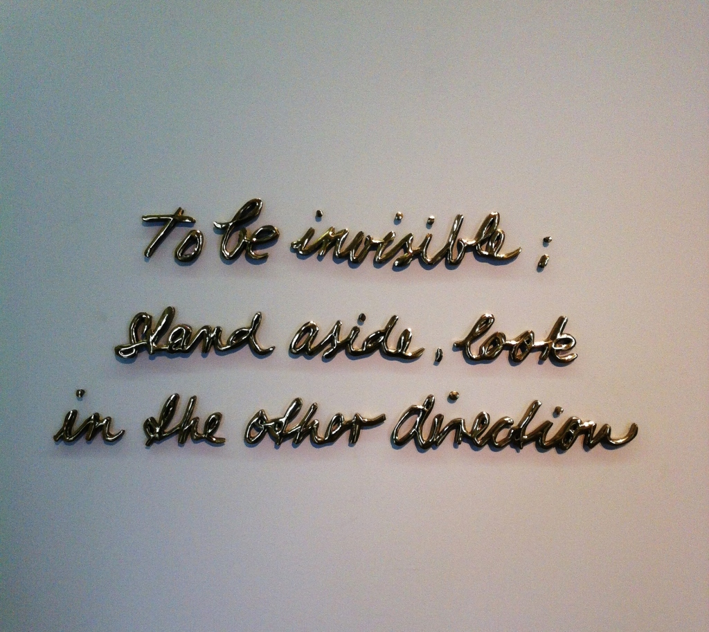 """""""To be invisible…"""", 2005."""