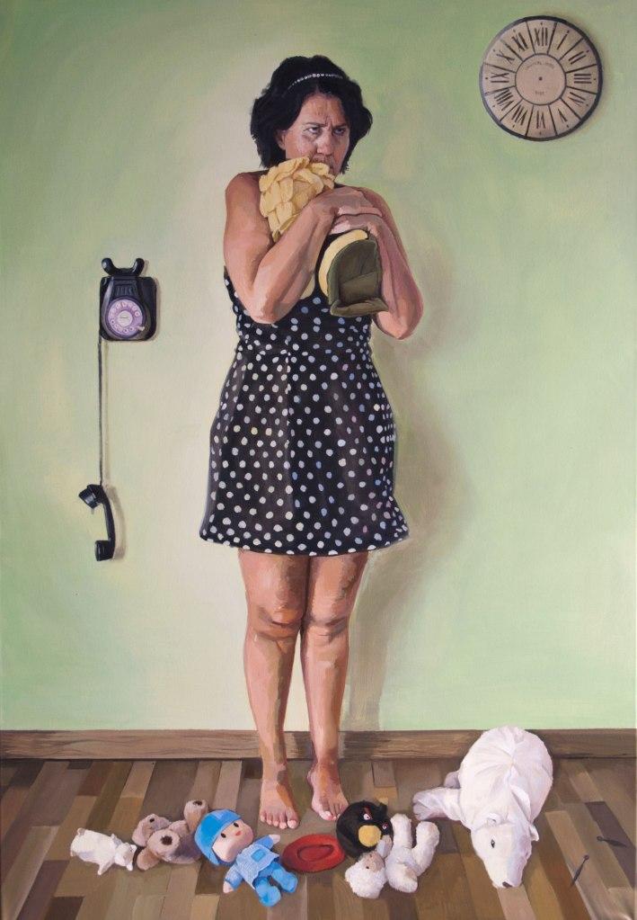 """""""El pasado puede ser maravilloso"""", 2014. Óleo sobre lienzo."""