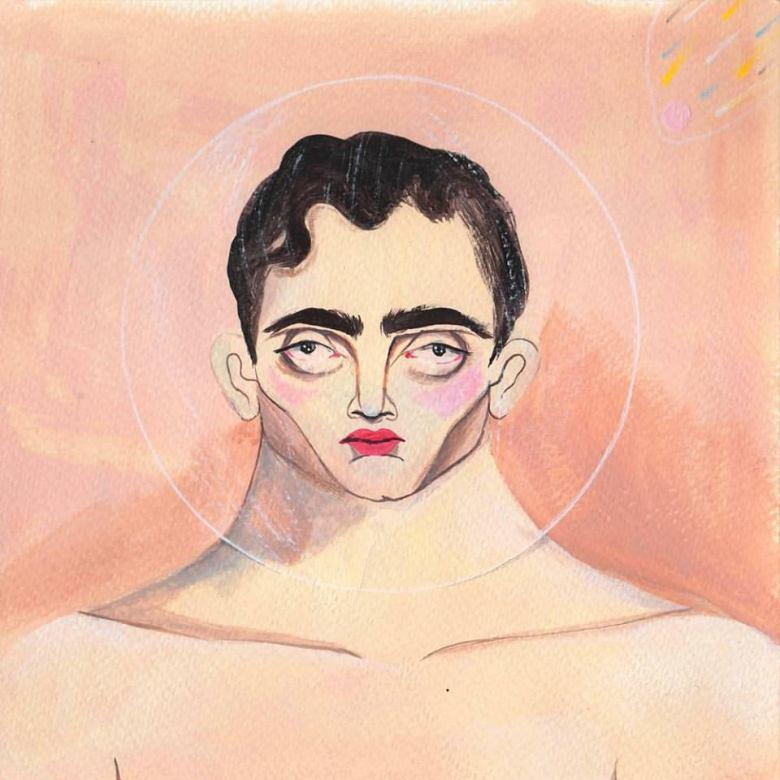 Burbuja - El Hombre Perfecto Acrilico Sobre Papel