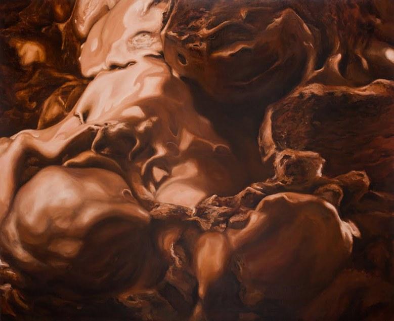 Eugenio Rivas - Maybe Late For Salvation_Ice Cream Oleo Sobre Lino