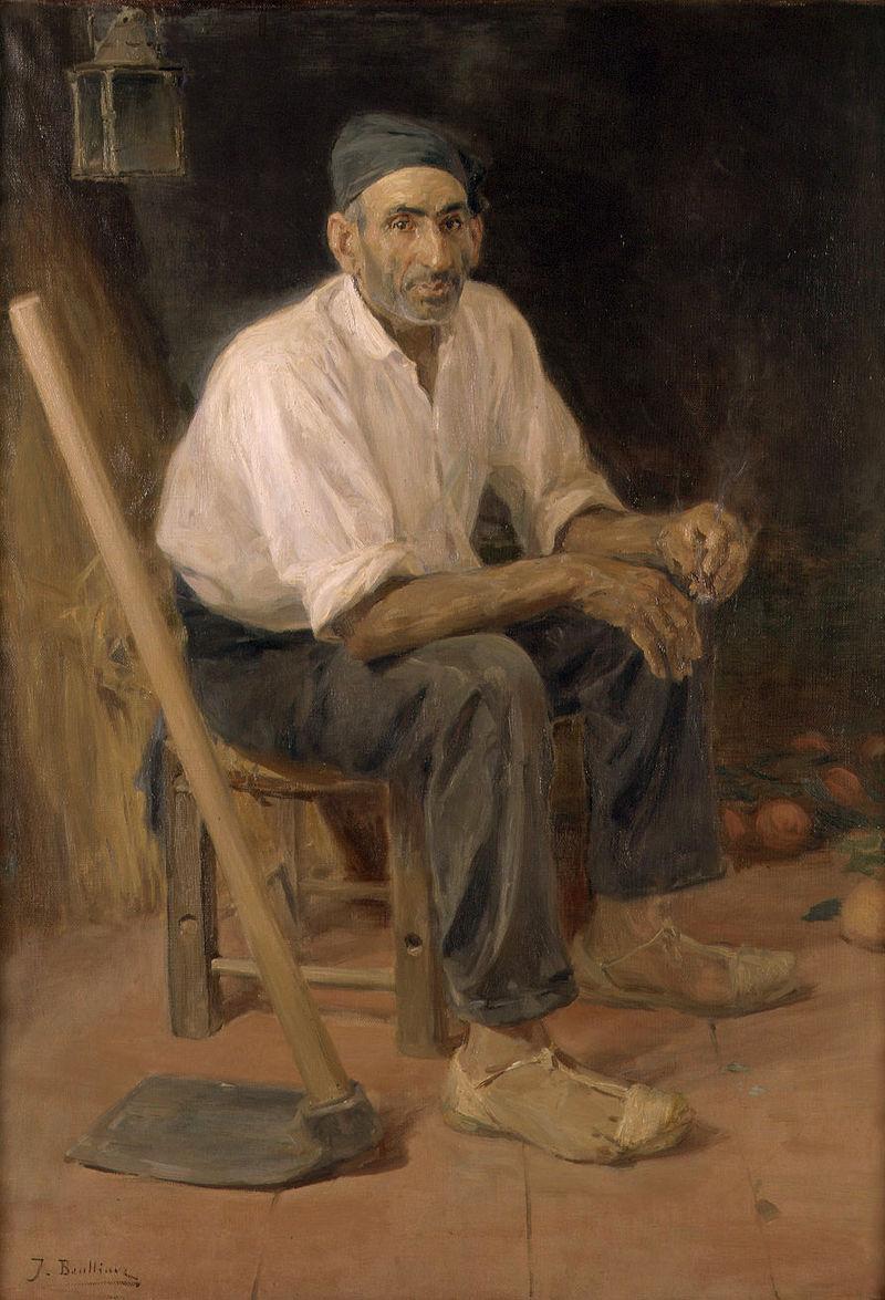 010 L'Oncle Andreu de Rocafort de José Benlliure. Artista valenciano cultivador de la pintura costumbrista