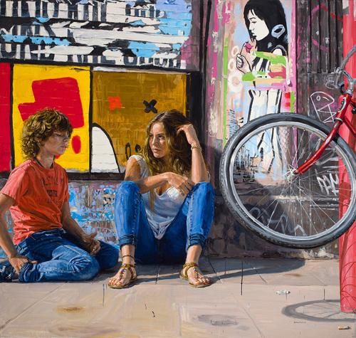 005 Michele del Campo The Rest Oil on Line 2014 Arte Online